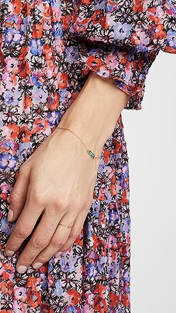 Jennifer Meyer Jewelry 18K 金镶嵌短条扣手镯