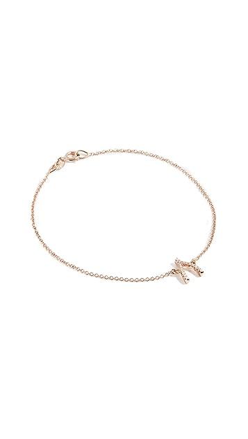 Jennifer Meyer Jewelry 18K 金钻石许愿骨手镯