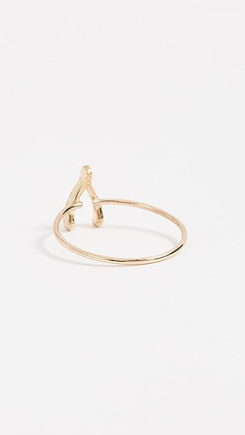 Jennifer Meyer Jewelry 18K 金迷你许愿骨戒指