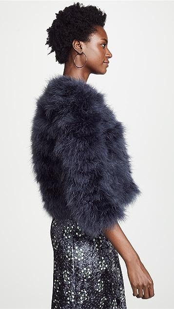 Jocelyn Fifi 染色羽毛针织短外套