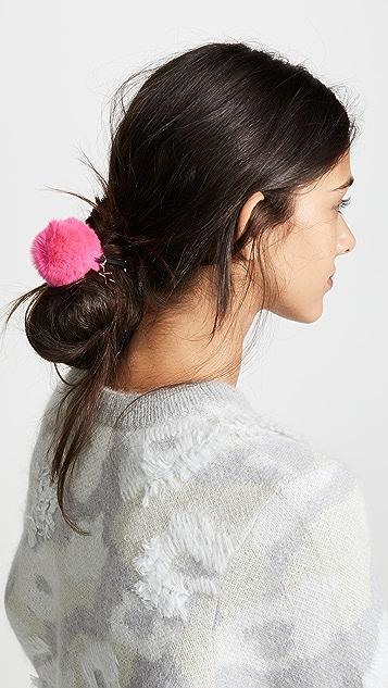 Jocelyn 獭兔毛绒球发带
