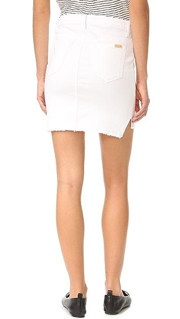 Joe's 牛仔裤 高低摆半身裙