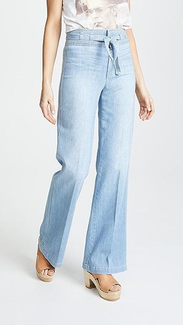 Joe's 牛仔裤 HR 系腰带喇叭牛仔裤