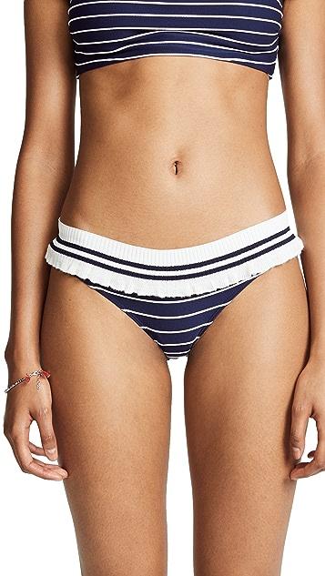 Jonathan Simkhai 罗纹针织装饰比基尼泳裤