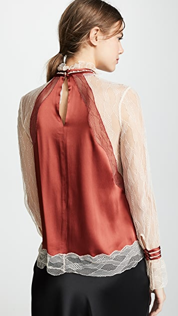 Jonathan Simkhai Lingerie 棉缎半高领上衣