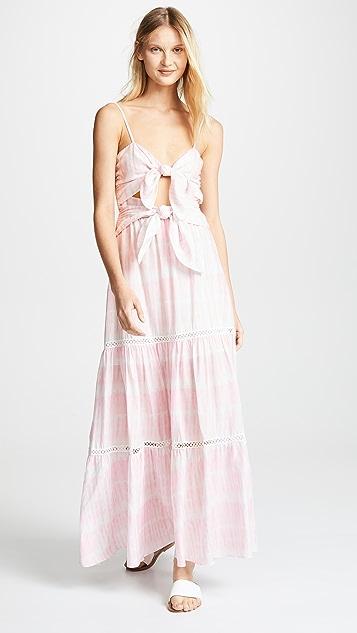 Jonathan Simkhai Hawaiian 纱笼抹胸镂空连衣裙