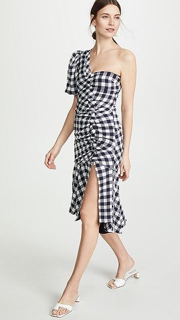 Jonathan Simkhai 华丽斜纹织物单袖连衣裙