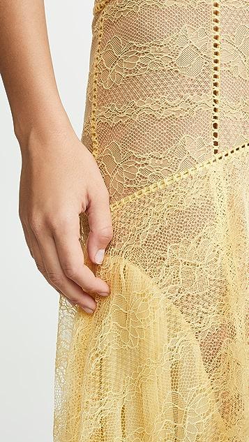 Jonathan Simkhai 刺绣雪纺蕾丝束身礼服