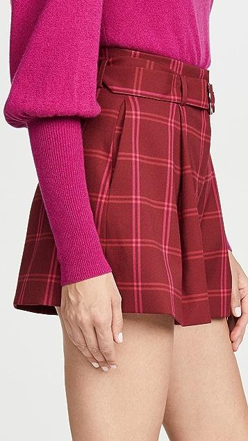 Jonathan Simkhai 窗格裥褶短裤