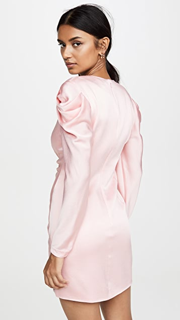 Jonathan Simkhai 绉绸背面缎面泡泡袖连衣裙