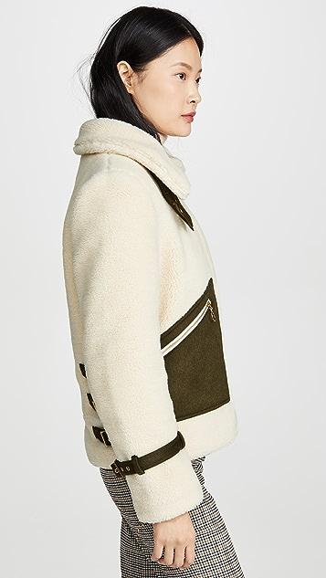 Jonathan Simkhai 仿羊羔绒衬里夹克