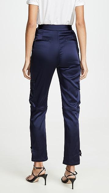 Jonathan Simkhai 挺括软缎实用裤