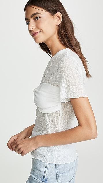 J.O.A.  象牙白 T 恤