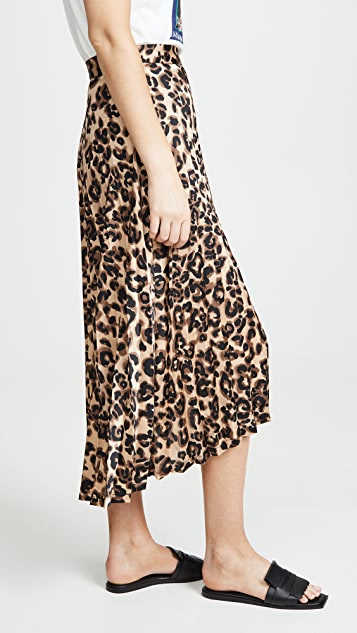 J.O.A.  闪光色豹纹半身裙