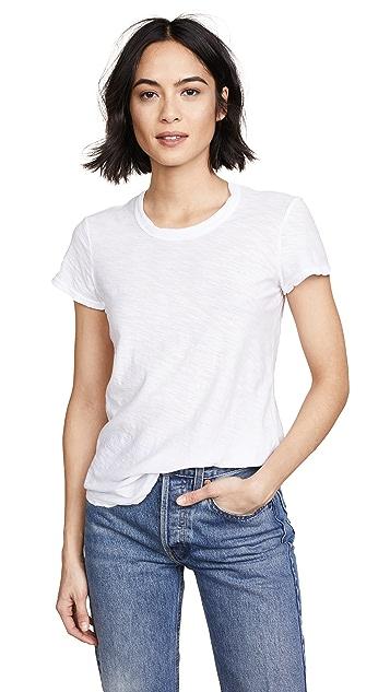 James Perse 轻薄竹节纹圆领 T 恤