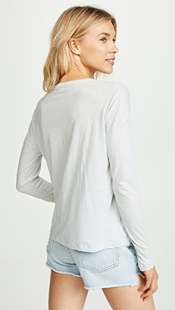 James Perse 长袖口袋 T 恤