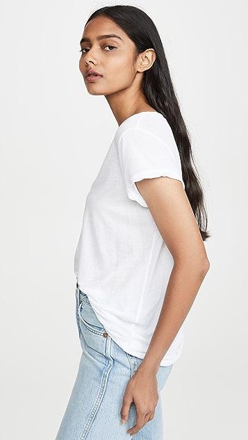James Perse 高针距平针织深 V 领 T 恤