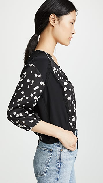 Jason Wu Spring 雏菊印花 V 领女式衬衫