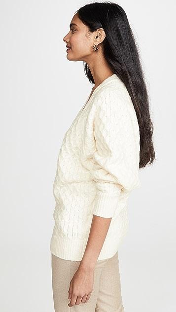 Jason Wu 羊毛混纺 V 领毛衣