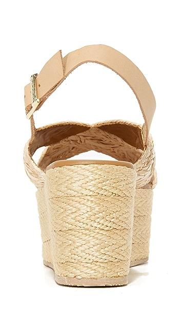 KAANAS Nut 编织底坡跟绑带凉鞋