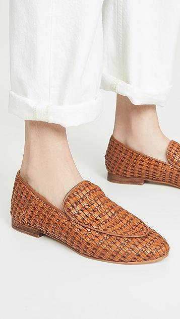 KAANAS 阿玛菲篮式梭织乐福鞋