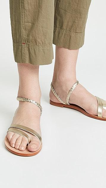 KAANAS Rio 编织踝带凉鞋