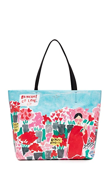 Kate Spade New York Rose Scene Hallie 手提袋