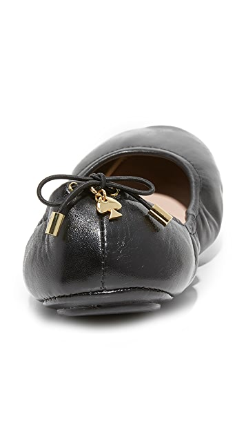 Kate Spade New York Globe 可折叠芭蕾平底鞋
