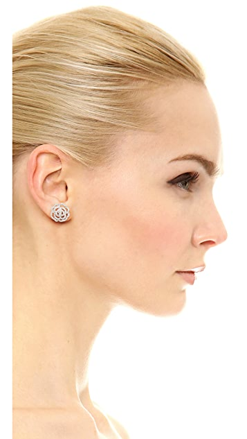 Kate Spade New York 水晶玫瑰耳钉