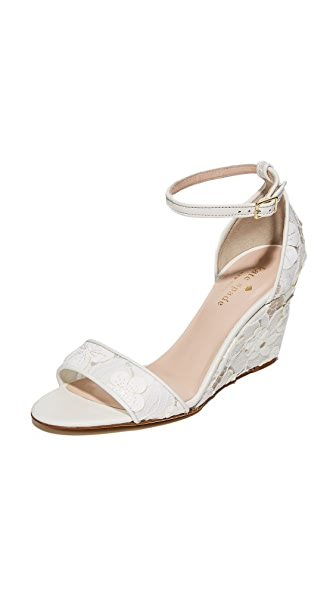 Kate Spade New York Roosevelt 蕾丝坡跟鞋