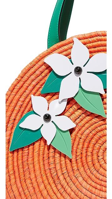 Kate Spade New York 草编橙子手提袋