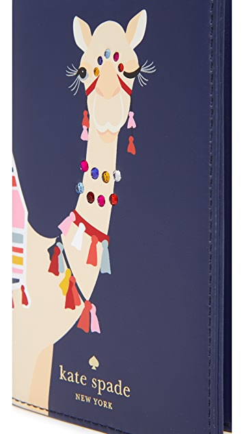 Kate Spade 纽约 骆驼护照套