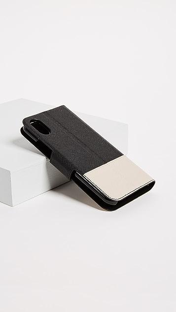 Kate Spade New York 皮环绕翻折式 iPhone X / XS 手机壳