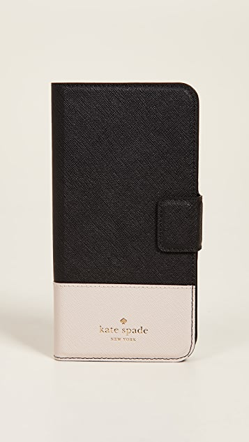 Kate Spade New York 皮革环绕式翻盖 iPhone 7 Plus / 8 Plus 手机壳