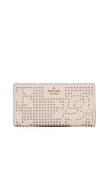 Kate Spade New York Cameron Street Perforated Stacy 钱包