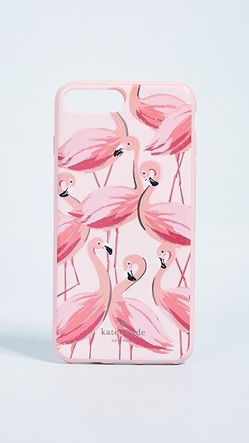 Kate Spade 纽约 彩绘火烈鸟 iPhone 8 Plus / 7 Plus 手机壳