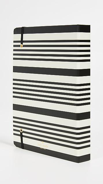 Kate Spade 纽约 黑色条纹大号全年计划本
