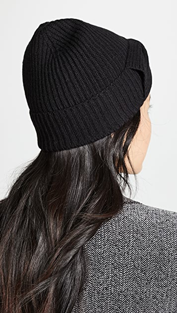 Kate Spade 纽约 纯色蝴蝶结针织帽