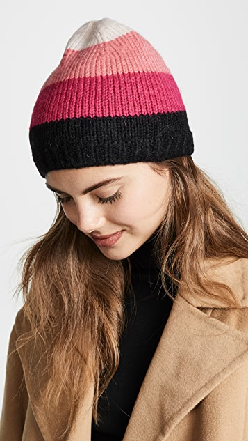 Kate Spade 纽约 起绒撞色毛线帽