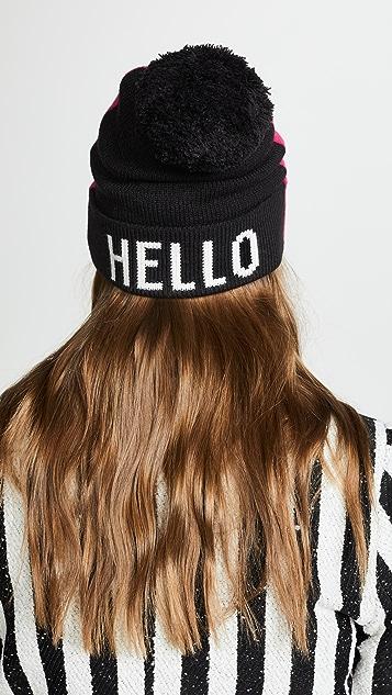 Kate Spade 纽约 Hello Gorgeous 毛线帽