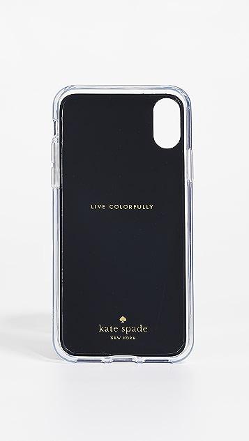 Kate Spade 纽约 龟甲纹免手提便携式 iPhone X / XS 手机壳