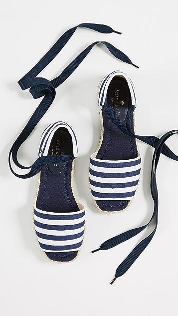Kate Spade New York Chandra 系带编织底布面鞋