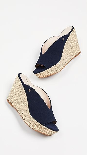 Kate Spade New York Thea 坡跟编织底凉鞋