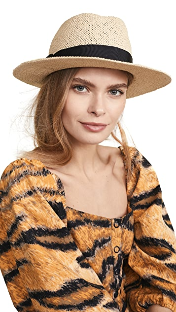 Kate Spade New York 黑桃金属配件费朵拉帽