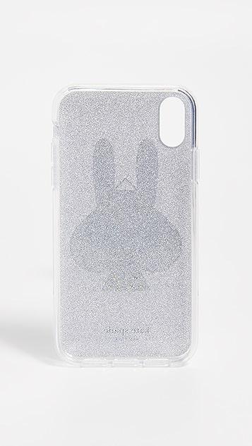 Kate Spade New York Glitter Money Bunny iPhone XR 手机壳