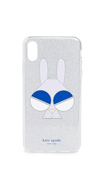 Kate Spade New York Glitter Money Bunny iPhone XS Max 手机壳