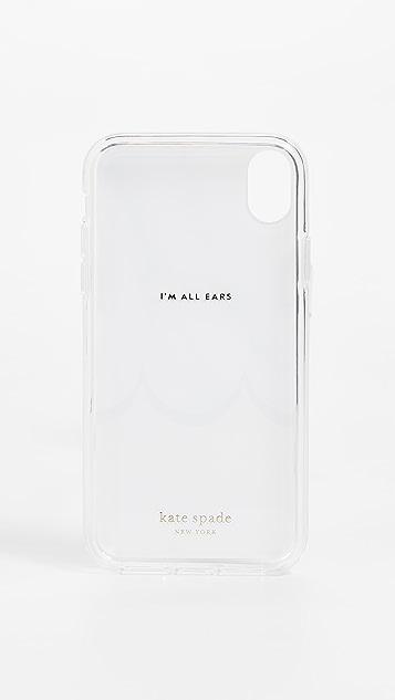 Kate Spade New York 大理石纹扇贝饰边 iPhone 手机壳
