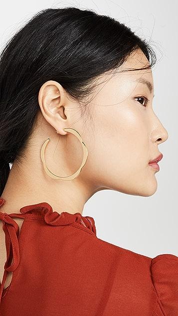 Kate Spade New York 拼接扇贝形大号圈式耳环