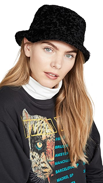 Kate Spade New York 仿羊羔绒渔夫帽