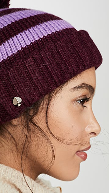 Kate Spade New York 传统条纹针织帽